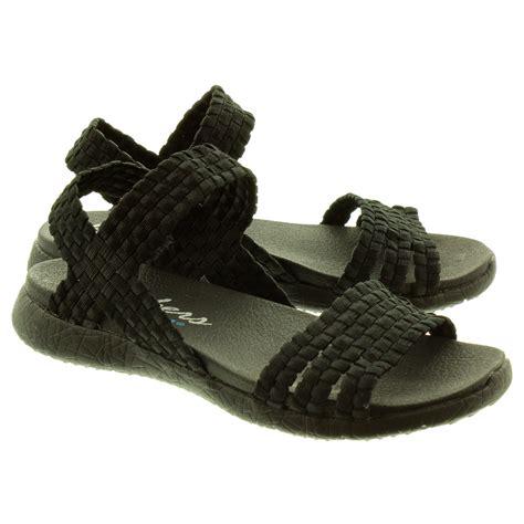 skechers sandals skechers 39060 sandals in black in black