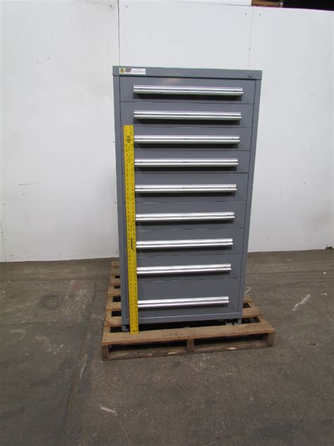 Parts Cabinet by Vidmar Stanley 9 Drawer Steel Industrial Tool Parts