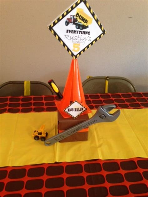 construction party birthday party ideas photo 11 of 21