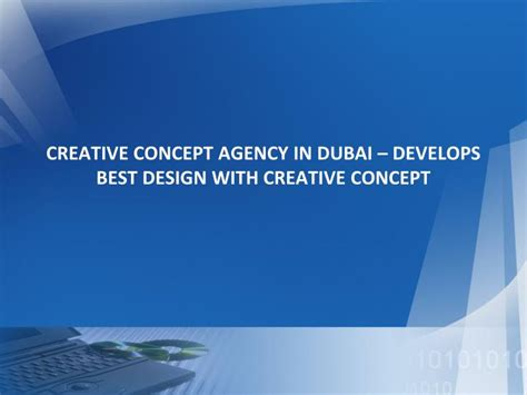 design agency powerpoint ppt creative concept agency in dubai develops best