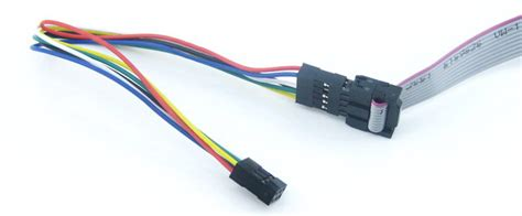 10 pin to 6 pin isp cable connect the 10 pin header of the 10 pin to 6 pin isp