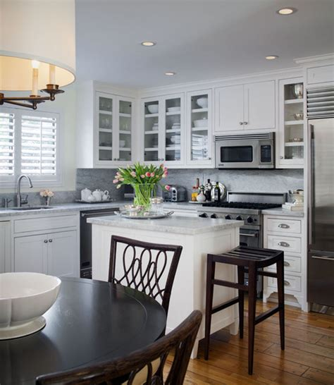 small white kitchen design ideas how to make an island work in a small kitchen