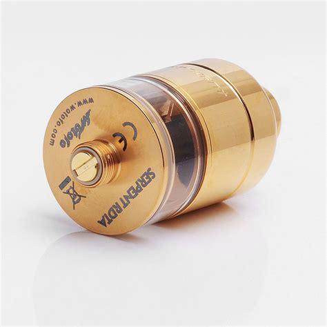 Wotofo The Serpent 22mm Rdta Atomizer Vape Authentic 1 authentic wotofo serpent rdta gold 2 5ml 22mm rebuildable