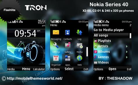nokia themes for c2 mobile download tron movie theme for nokia c2 01 x2 00 and 240 x