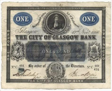 gla bank city of glasgow pam west bank notes