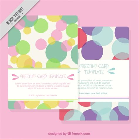 greeting card templates with confetti vector free download