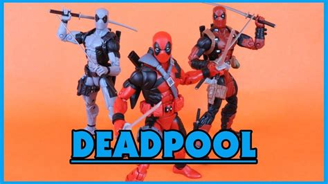 deadpool figure 90s marvel legends sasquatch baf wave 90s deadpool