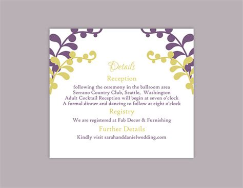 Word Card Editable Template by Diy Wedding Details Card Template Editable Text Word File