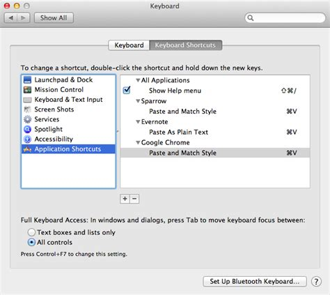 paste shortcut mac paste and match style on mac os x