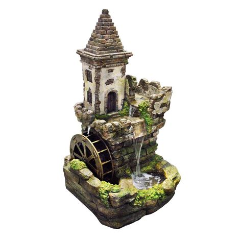 alpine   castle tiered fountain usa  home depot