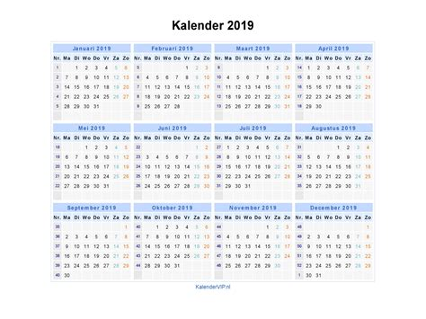 kalender  jaarkalender en maandkalender  met weeknummers en feestdagen