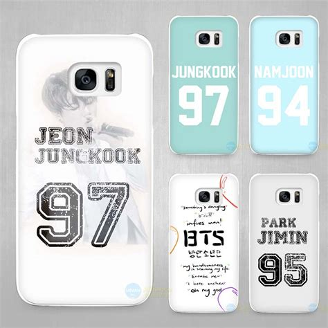 Samsung Galaxy S5 Bts Star1 bangtan bts number white coque shell cover phone cases for samsung galaxy s4 s5 s6 s7
