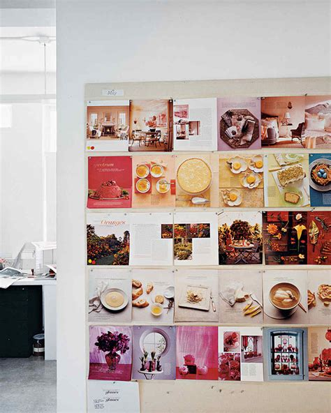 magazine layout wall creativity at work a tour of martha stewart living s