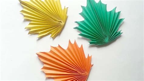 how to create paper maple leaves diy crafts tutorial