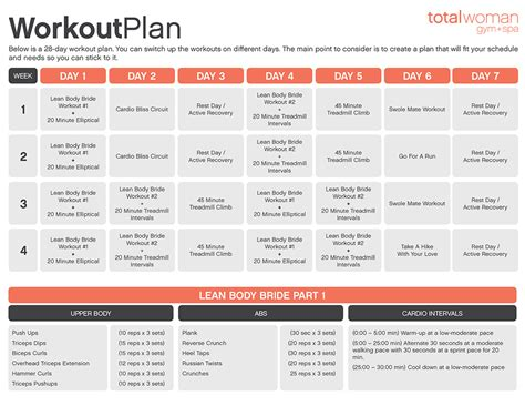 Fitness Software 1 by Monthly Workout Schedule For Beginners Berry