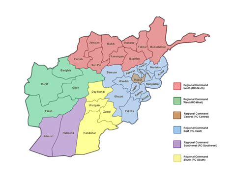 map of with provinces provinces of afghanistan map