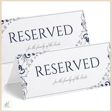 reserved place card template reserved tent sign template pictures to pin on