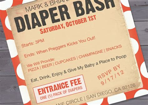 1000 ideas about diaper invitation template on pinterest