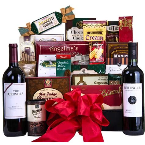 gift baskets for with free shipping deluxe cookie basket wine free shipping gourmet gift
