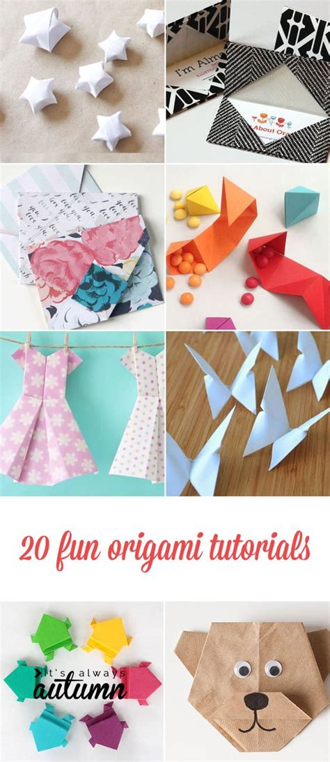 Cool Origami Tutorials - 20 origami tutorials for adults and