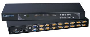 Hughes Kvm Switch 16 Port hughes 16 port cyberview ip combo console kv