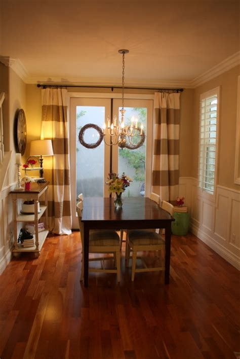 dining room curtains houzz striped drapes