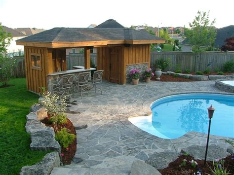 pool shed ideas pool shed with bar area traditional garage and shed toronto by heritage stoneworks ltd