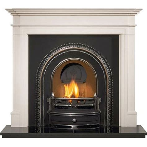 Reproduction Cast Iron Fireplaces by The Radleigh Highlighted Arched Period Insert