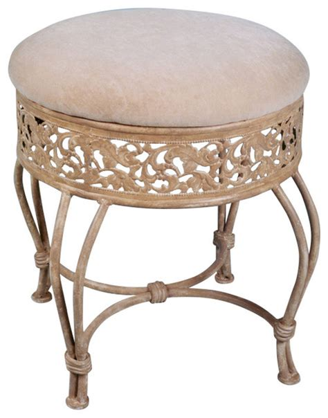 vanity chairs and benches shop houzz hillsdale furniture villa iii vanity stool
