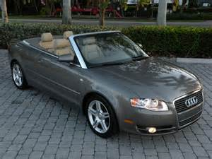 2007 audi a4 convertible 2 0t fort myers florida for sale