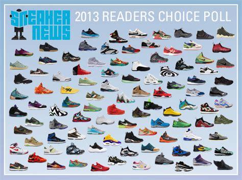 sneaker brands list sneaker news 2013 readers choice poll december 2013
