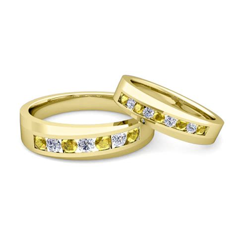 gold wedding bands his and hers gold wedding rings gold wedding bands his and hers