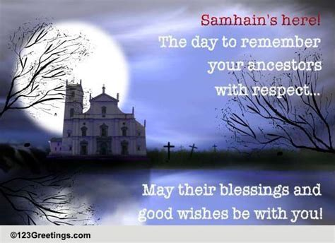 Ancestor's Blessings & Good Wishes! Free Samhain eCards