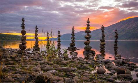 by michael grab rock balancing artist creates impossible towers of balanced rocks to