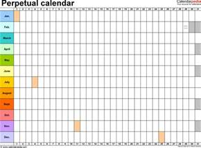Calendar Site Perpetual Calendars 7 Free Printable Word Templates