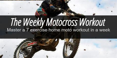 master a 7 exercise home motocross workout routine in a