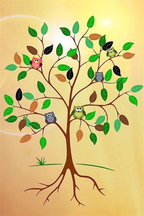 Sticker Wall Tree kostenlose illustration baum wurzeln 196 ste bl 228 tter
