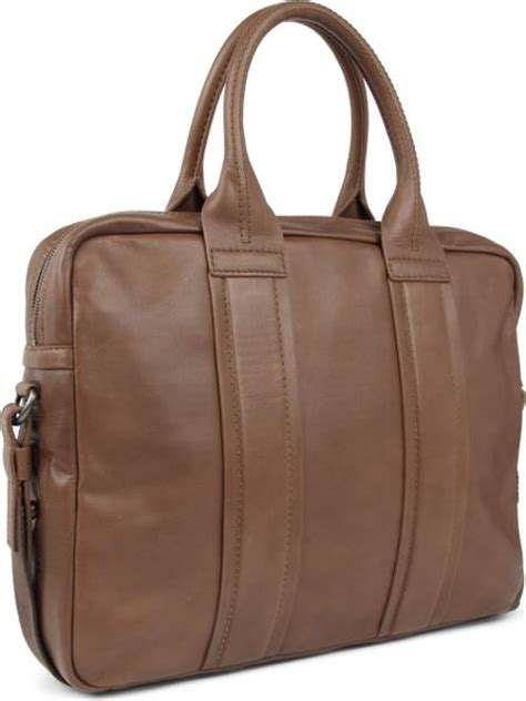 hugo saltin leather work bag in brown for taupe