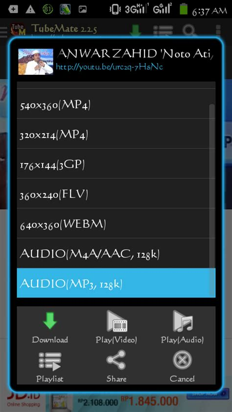 download youtube jadi mp3 lewat hp cara download mp3 di youtube lewat hp android rud arsenio