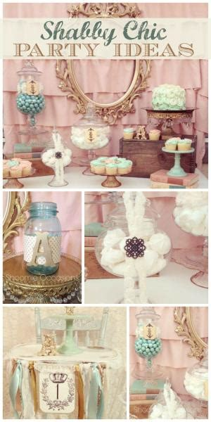 Shabby Kecil Planner Table Decoration shabby chic vintage 1st birthday planning ideas