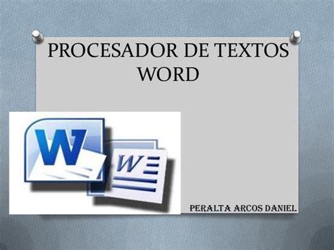 procesador de texto procesador de textos word