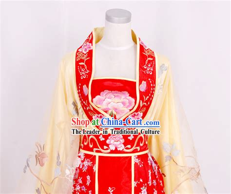 Dynasty Panci 7 Set Orange Color tang dynasty empress embroidered clothing complete set