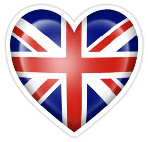 Wall Sticker Canada quot union jack british heart flag quot stickers by jeff bartels