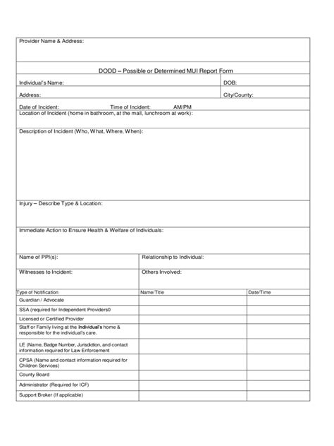 Incident Report Exle Pdf Incident Report Form 7 Free Templates In Pdf Word Excel