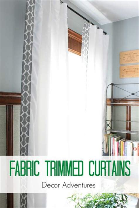 fabric trim for curtains remodelaholic 28 ways to spruce up white curtains