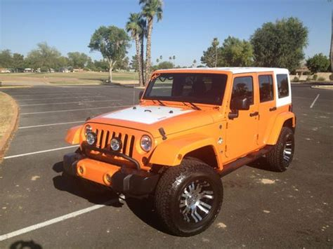 jeep wrangler orange lifted buy used 2012 jeep wrangler unlimited orange crush one of