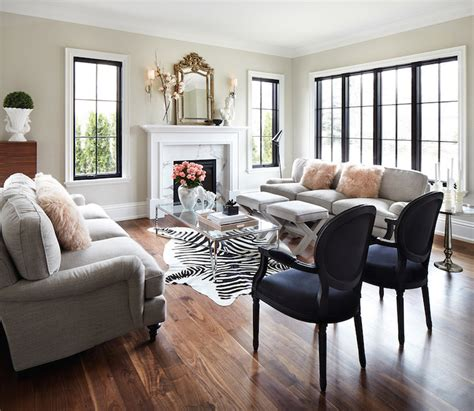 Light Cowhide Rug Gray Roll Back Chairs Design Ideas