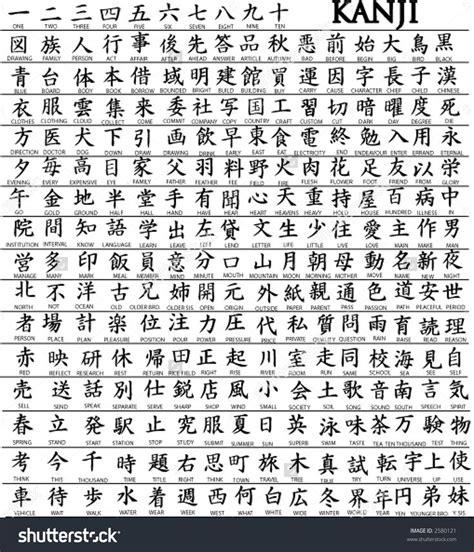 Kanji Characters   list of 100 kanji with translation learn japanese how