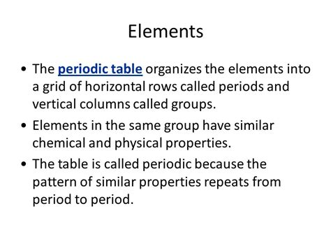 Horizontal Rows In The Periodic Table Are Called by Matter Properties And Change Ppt