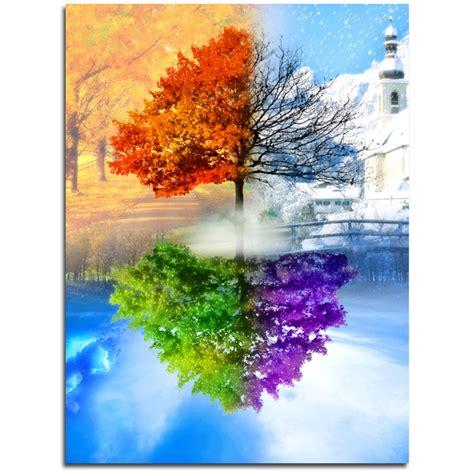 aliexpress comprar bordado cristal de mosaico cuatro estaciones 225 rboles bricolaje patr 243 n de